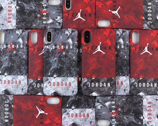 Marble Luminous Aj Case For IPhone X 8 Plus Super Star Air Jordan Cases For IPhone 6 6 Plus 6s Plus 7Plus 8plus Scrub Hard Shell
