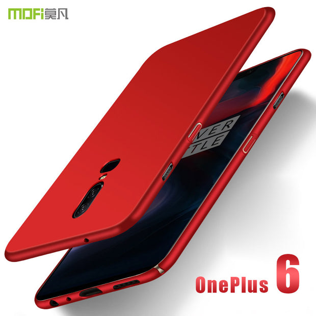 Oneplus 6 Case MOFi For Oneplus 6 Hard PC Back Cover Case For One Plus 6 Full Cover Protective OP6 Frosted Case Cover 6.28''