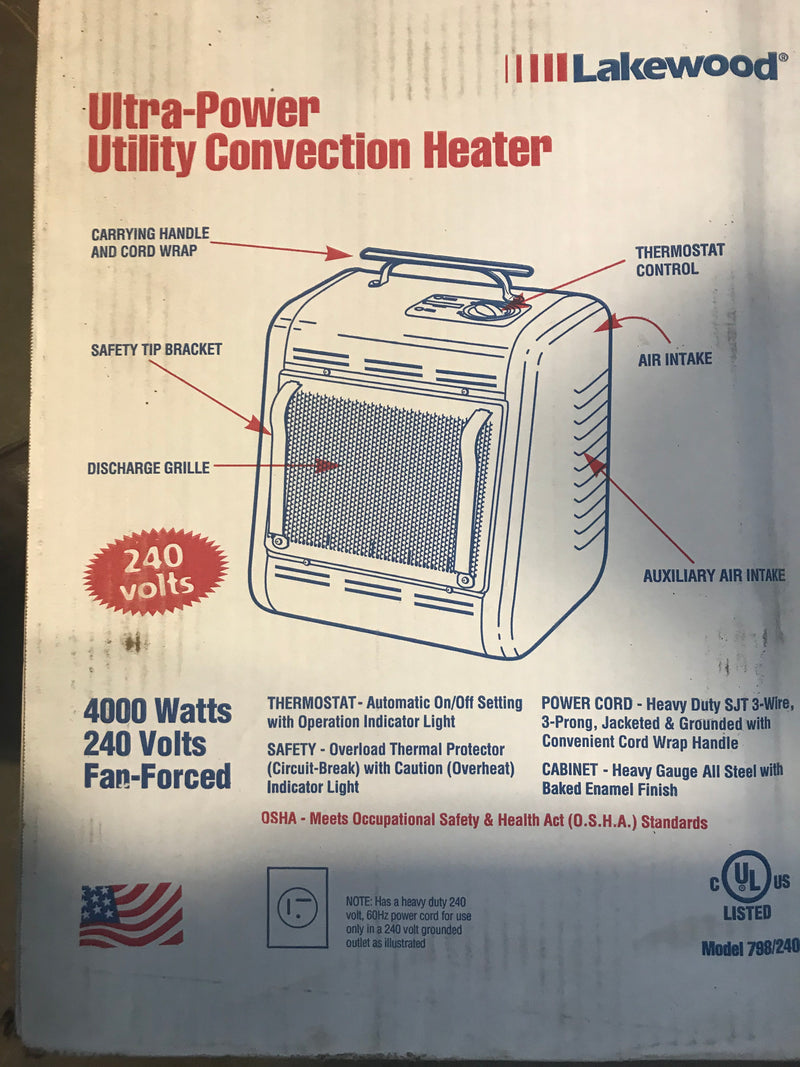 240 VOLT  ELECTRIC HEATER