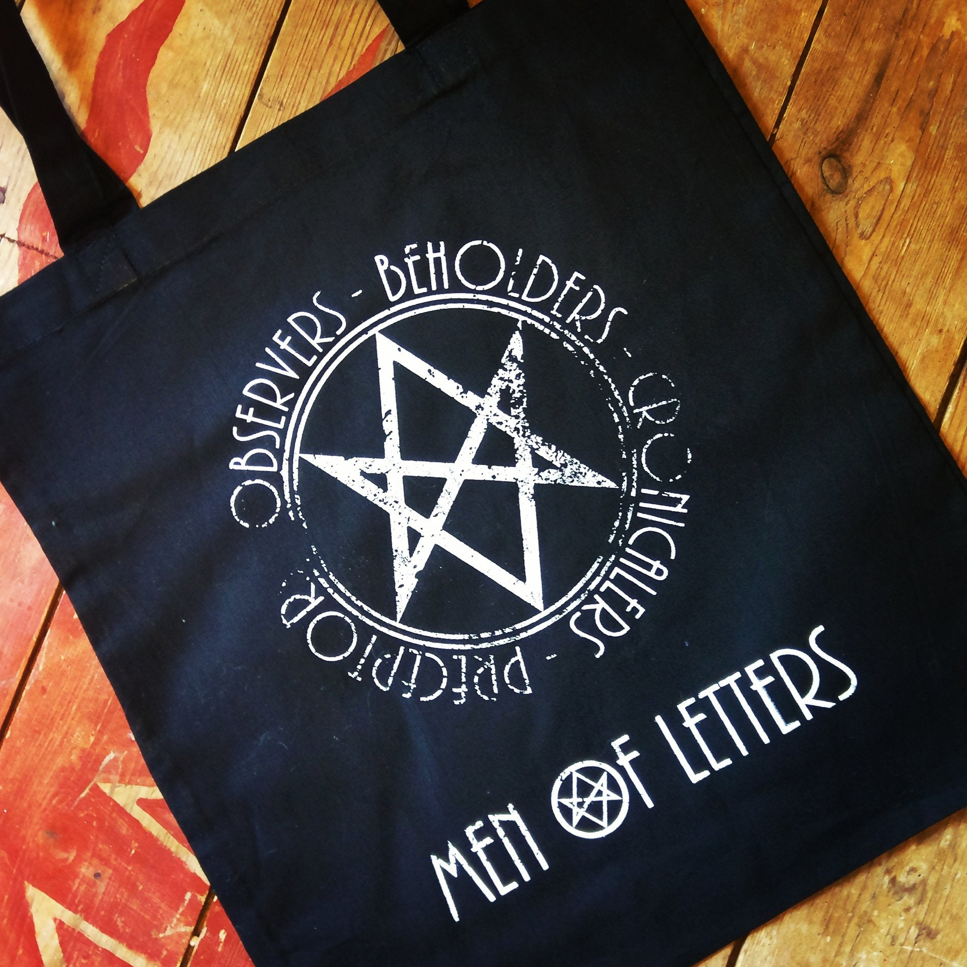 Men of Letters Supernatural Canvas Tote Bag - ByCandlelight27