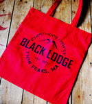 Black Lodge Canvas Tote Bag - ByCandlelight27