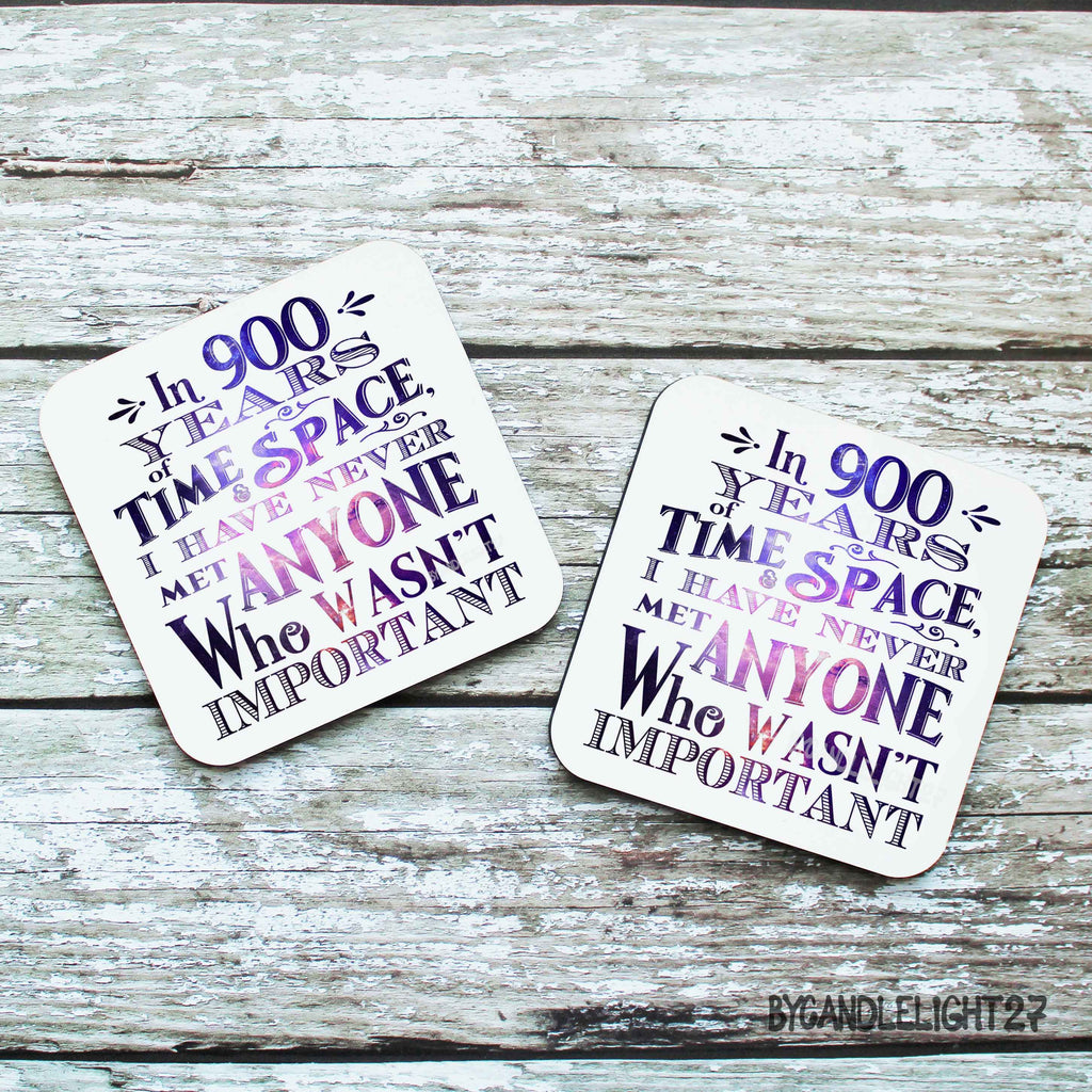 900 Years Matt Smith Quote - Hardwood Coasters - ByCandlelight27