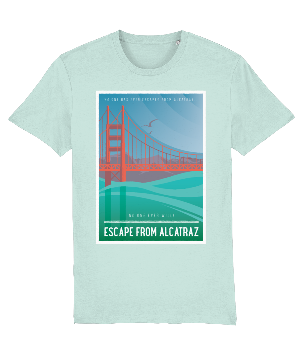 Escape from Alcatraz Vintage Organic T-shirt