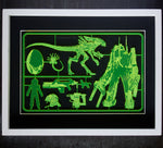 Aliens Model Kit Art Panel - ByCandlelight27