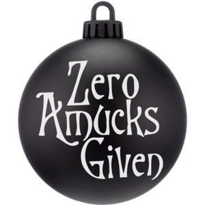 Zero Amucks Given Christmas Bauble Ornaments