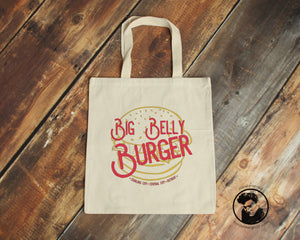 Big Belly Burger Canvas Tote Bag - ByCandlelight27