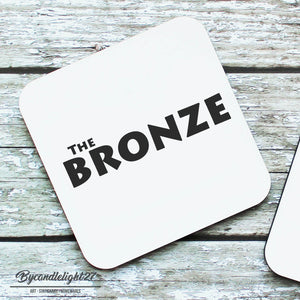 The Bronze Buffy Hardwood Coasters