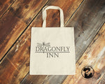 Dragonfly Inn - Stars Hollow - Gilmore Girls - Hand Crafted Tote Bag - ByCandlelight27