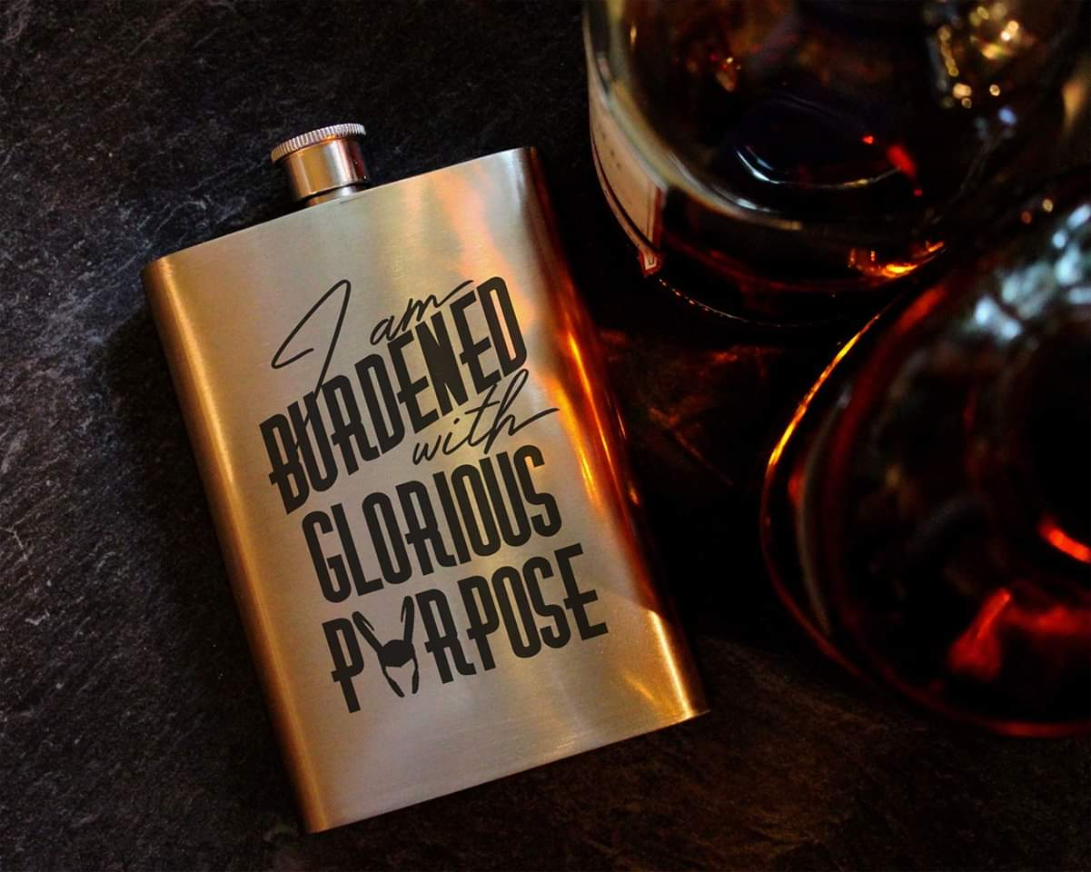Glorious Purpose - Loki - 8oz Hip Flask, Drinking Flask - ByCandlelight27