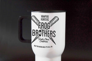 Frog Brothers Vampire Killer- Inspired - Hand Crafted Travel Cup - ByCandlelight27