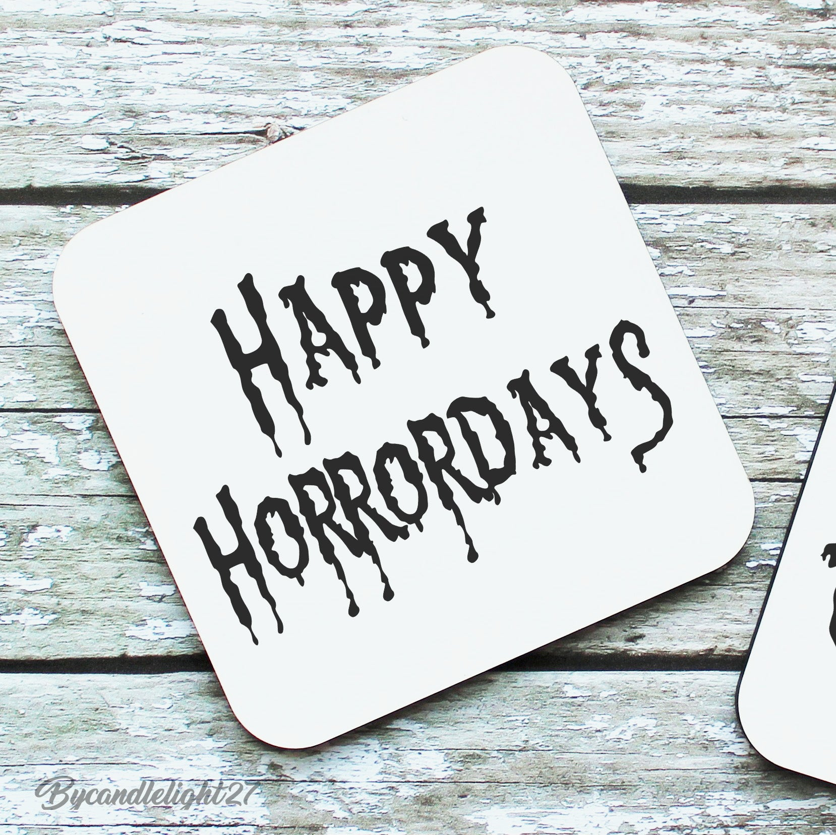 Happy Horrordays - Hardwood Coasters