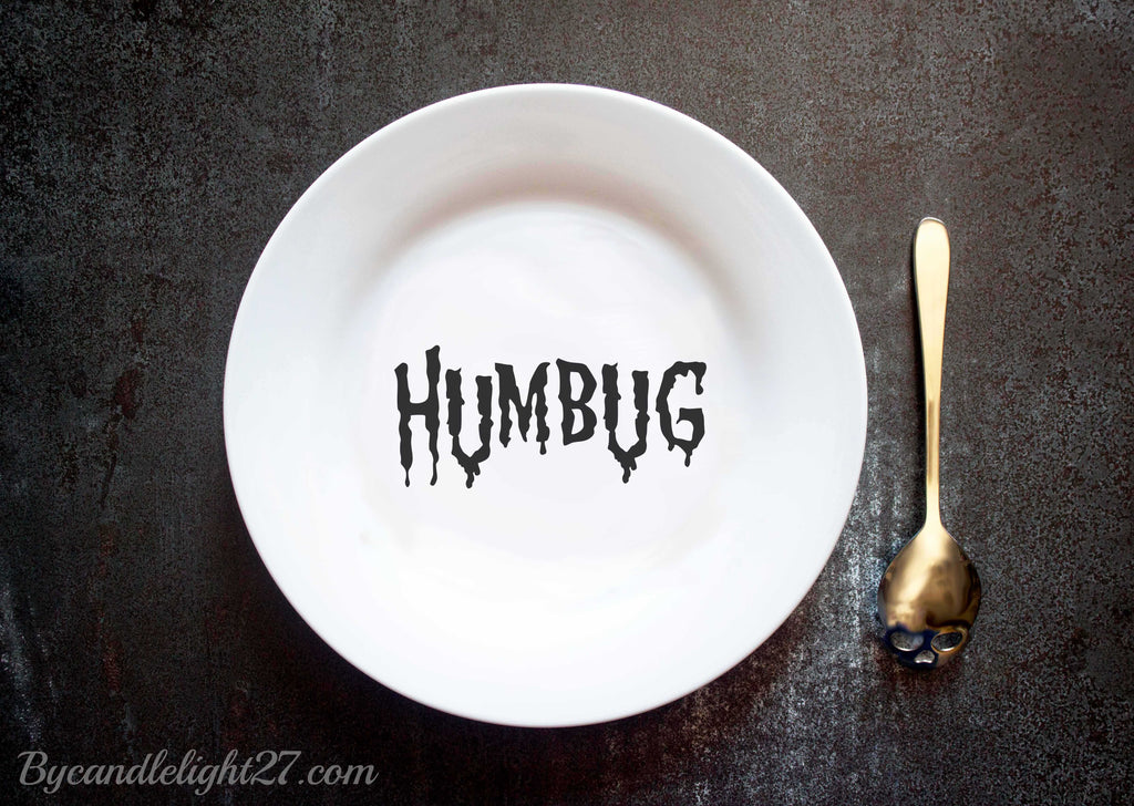 Humbug Christmas & Halloween Ceramic Plate