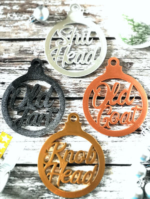Supernatural Nicknames Christmas Ornaments