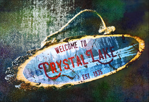 Camp Crystal Lake Handmade Sign - ByCandlelight27