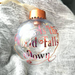 As The World Falls Down Labyrinth LED Christmas Ornament - ByCandlelight27