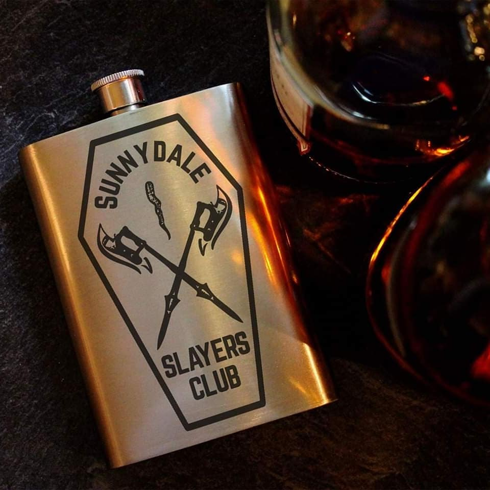 Sunnydale Slayers Club 8oz Hip Flask, Drinking Flask - ByCandlelight27