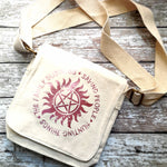 Supernatural Cotton Canvas Messenger Bag - ByCandlelight27
