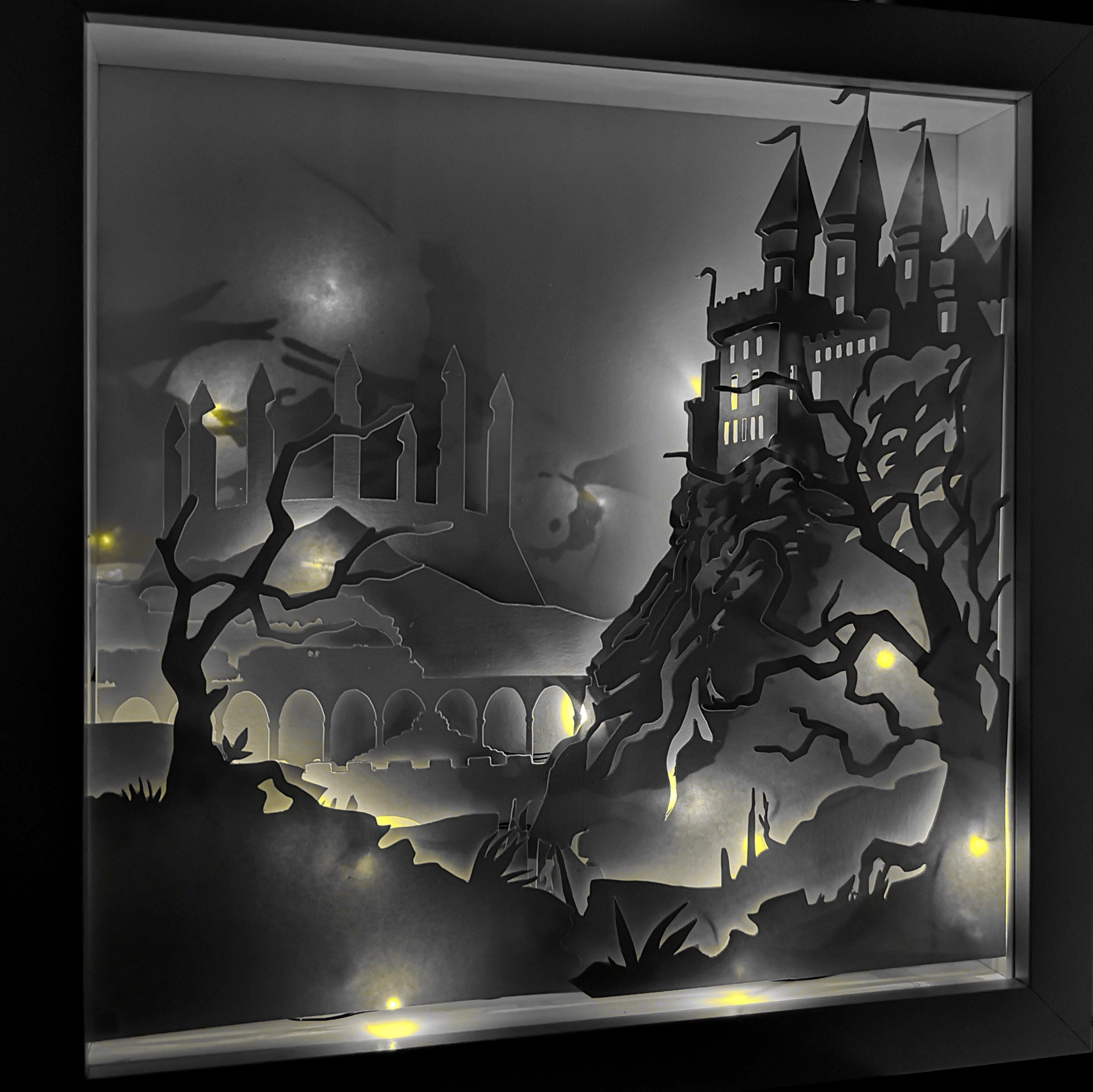Hogwarts 3D Shadow Box Frame - ByCandlelight27