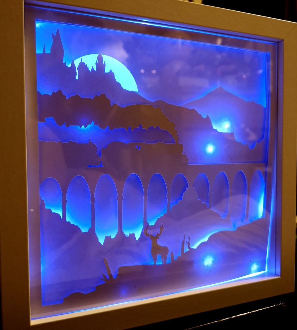 Catching the Express 3D Shadow Box Frame - ByCandlelight27
