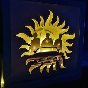 67 Impala Supernatural 3D Shadow Box Frame - ByCandlelight27