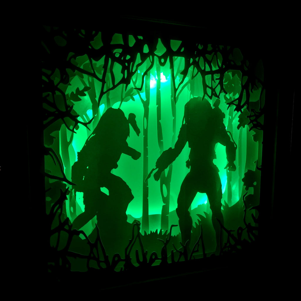 Predator 3D Shadow Box Frame - ByCandlelight27