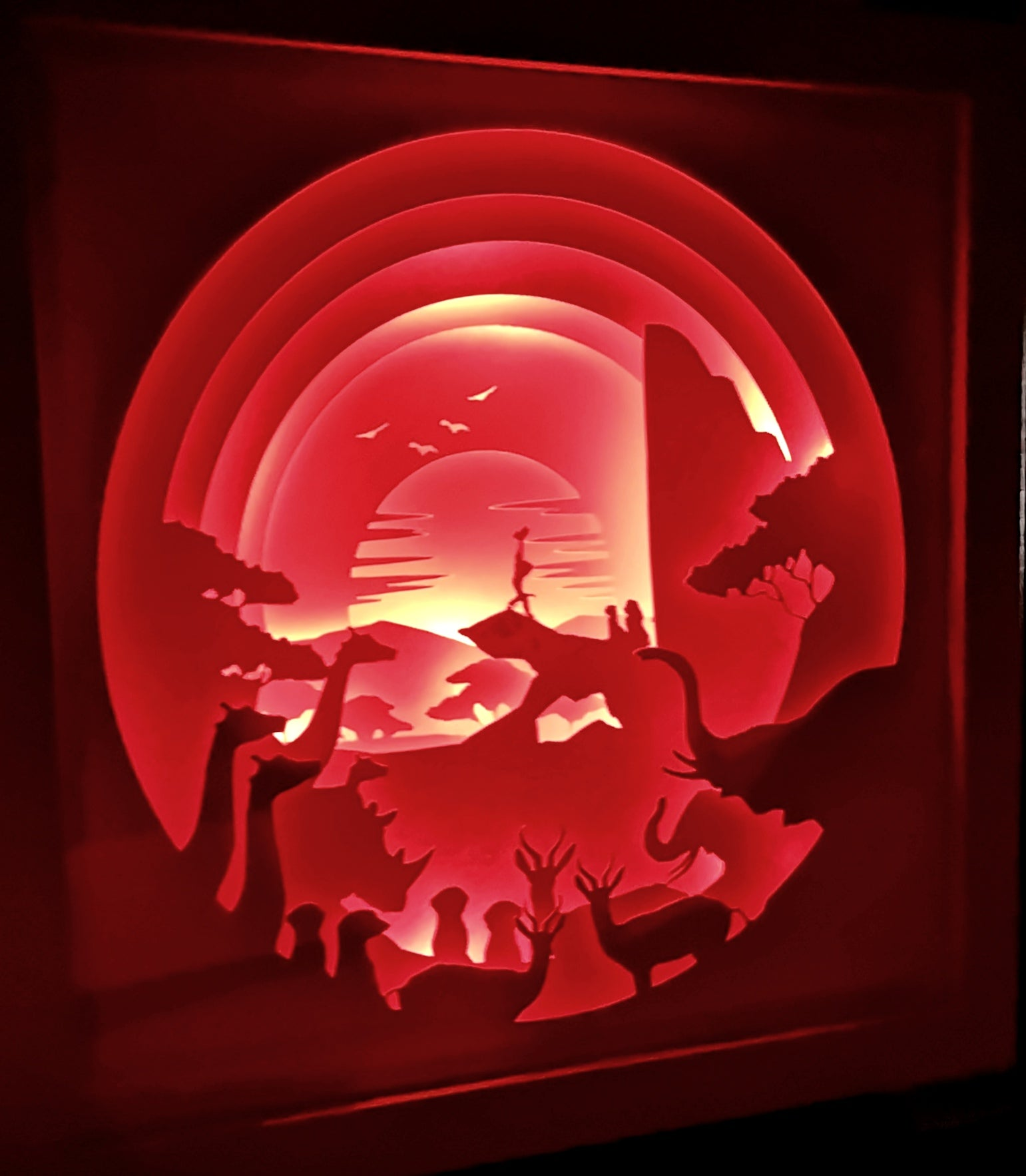 Simba's Pride 3D Shadow Box Frame - ByCandlelight27