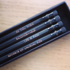 Princess Bride Quote Pencil Set - ByCandlelight27
