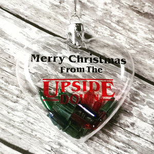 Upside Down Glass Christmas Ornaments