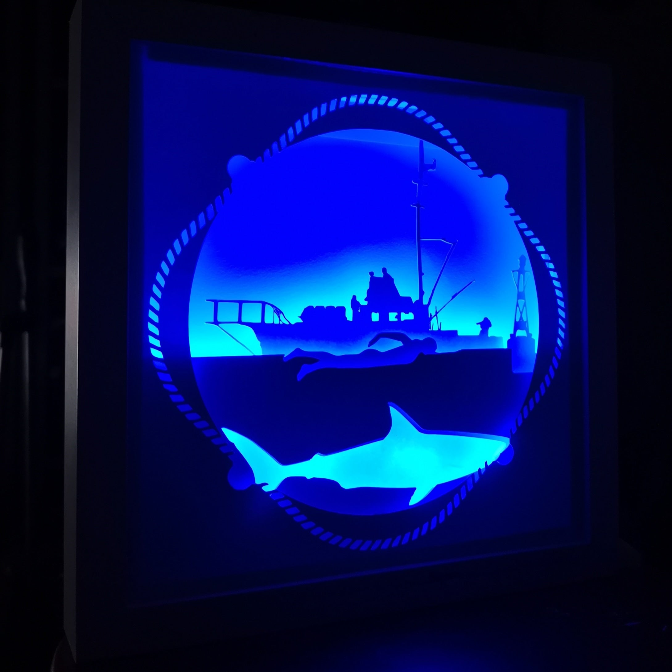 Jaws 3D Shadow Box Frame - ByCandlelight27