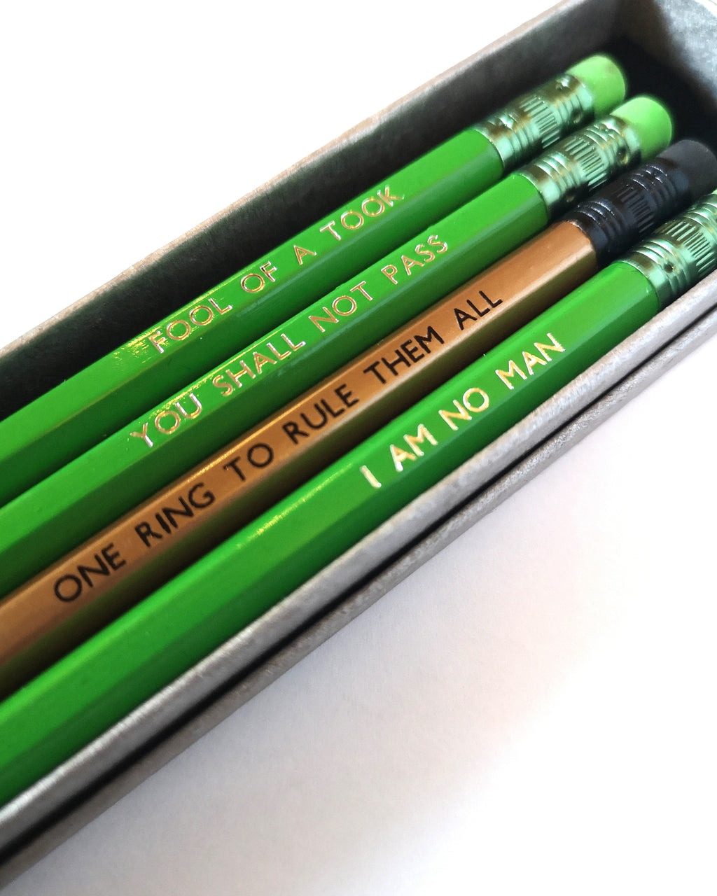 Lord of The Rings Inspired Pencil Set