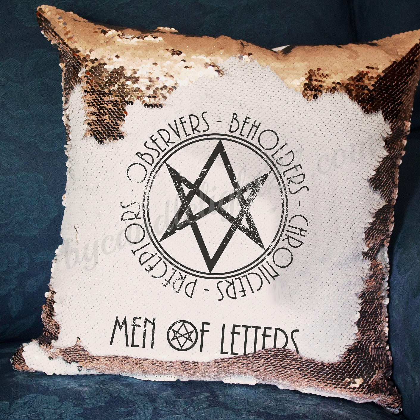 Men of Letters - Supernatural - Hidden Message Cushion - ByCandlelight27