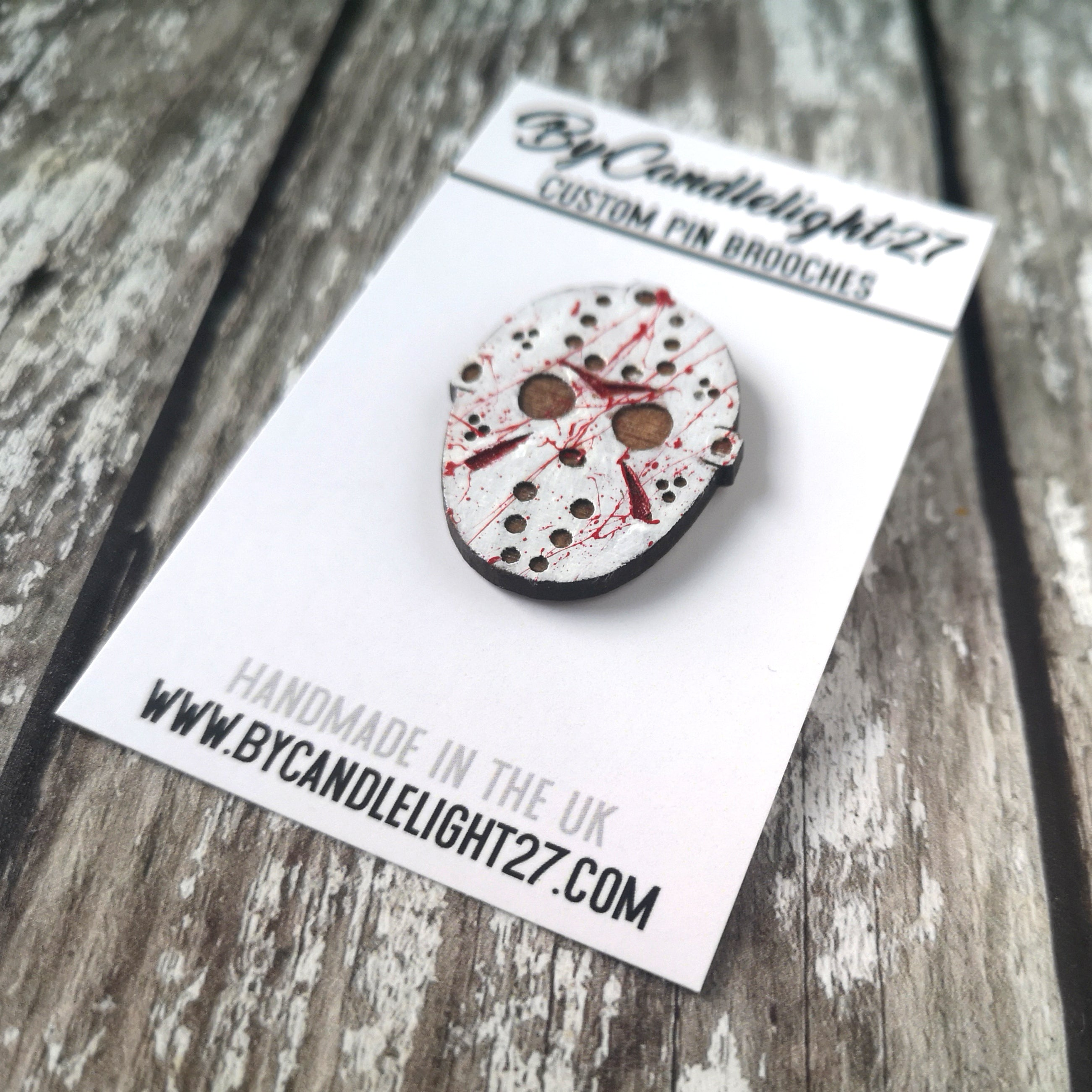 Friday 13th Jason Mask Horror Pin
