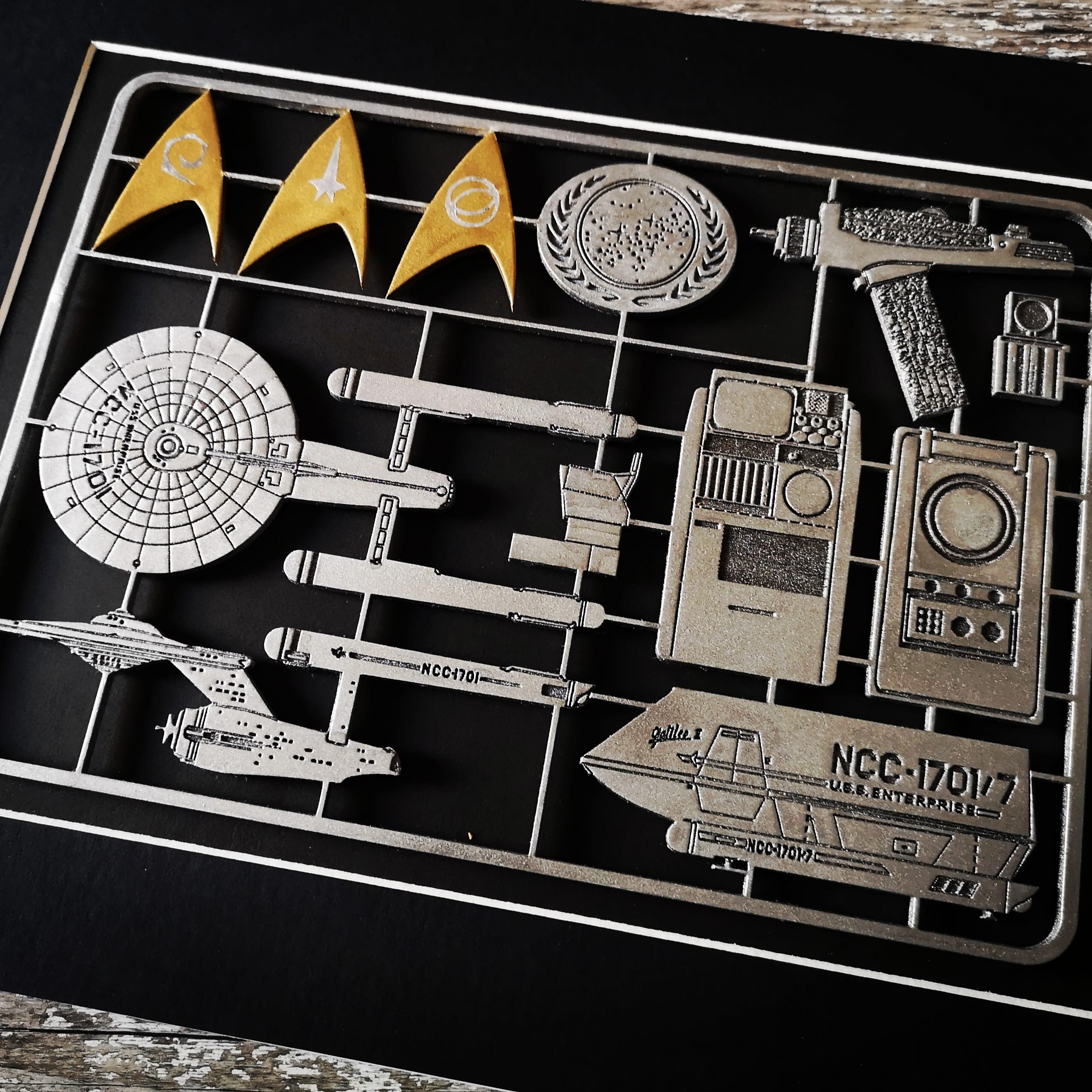 Trek Original Series Model Kit Art Panel