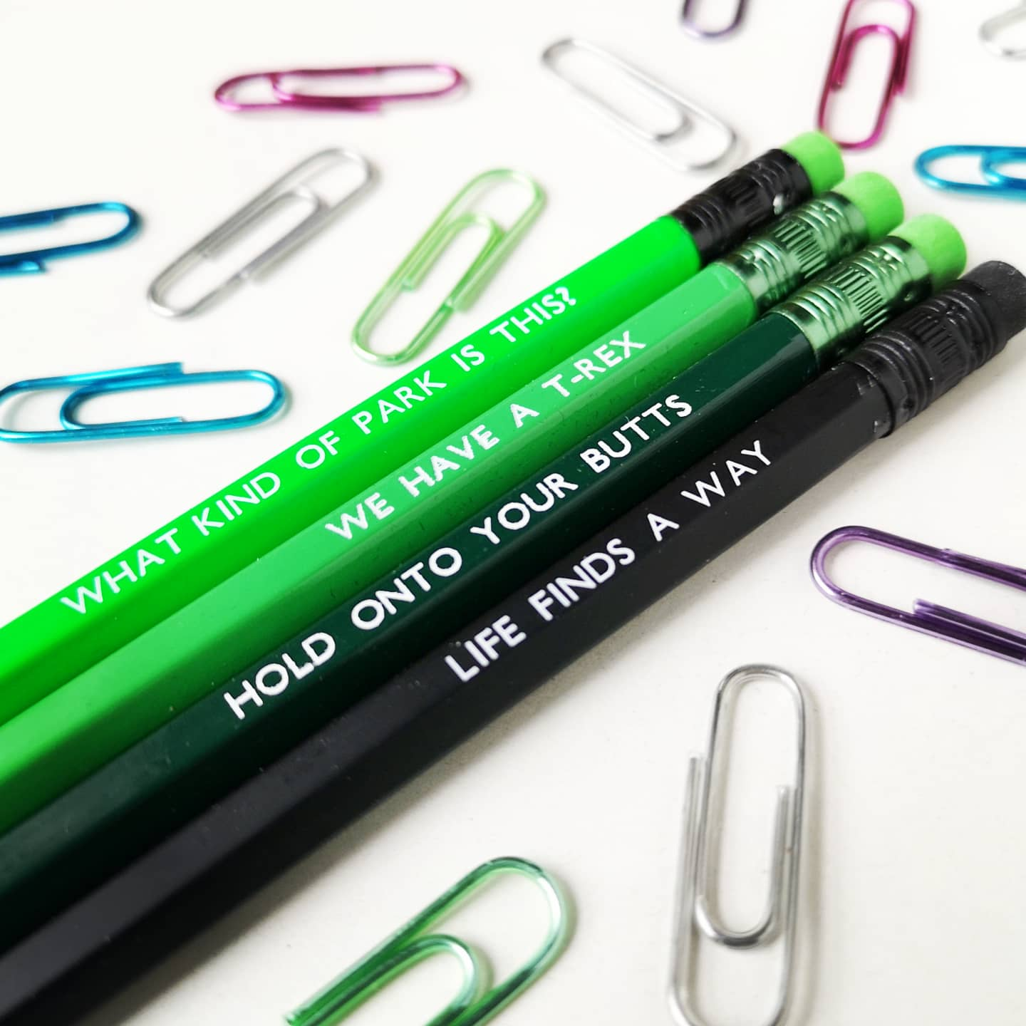 Jurassic Quote Inspired Pencil Set