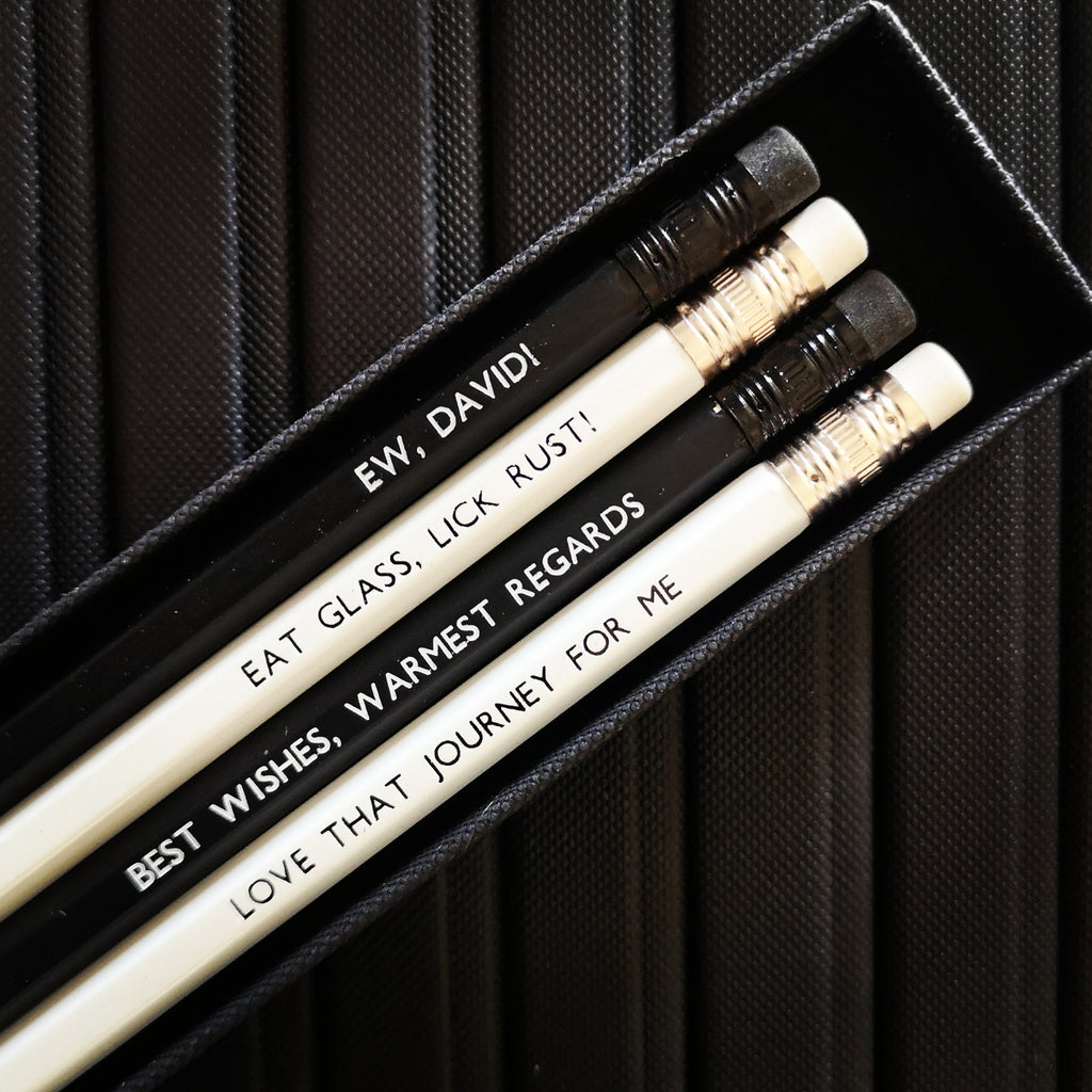 Schitt's Quote Inspired Pencil Set