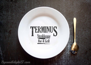 Terminus Bar and Grill - Ceramic Plate - ByCandlelight27