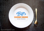 Biff's Leasure Paradise, Back To The Future - Plate - ByCandlelight27
