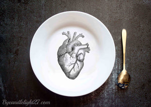 Anatomical Heart - Ceramic Plate - ByCandlelight27
