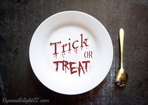 Trick or Treal Halloween - Ceramic Plate