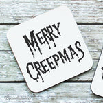Merry Creepmas - Hardwood Coasters