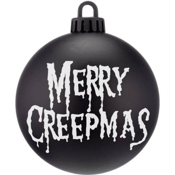 Merry Creepmas Dark Christmas Bauble Ornaments - ByCandlelight27