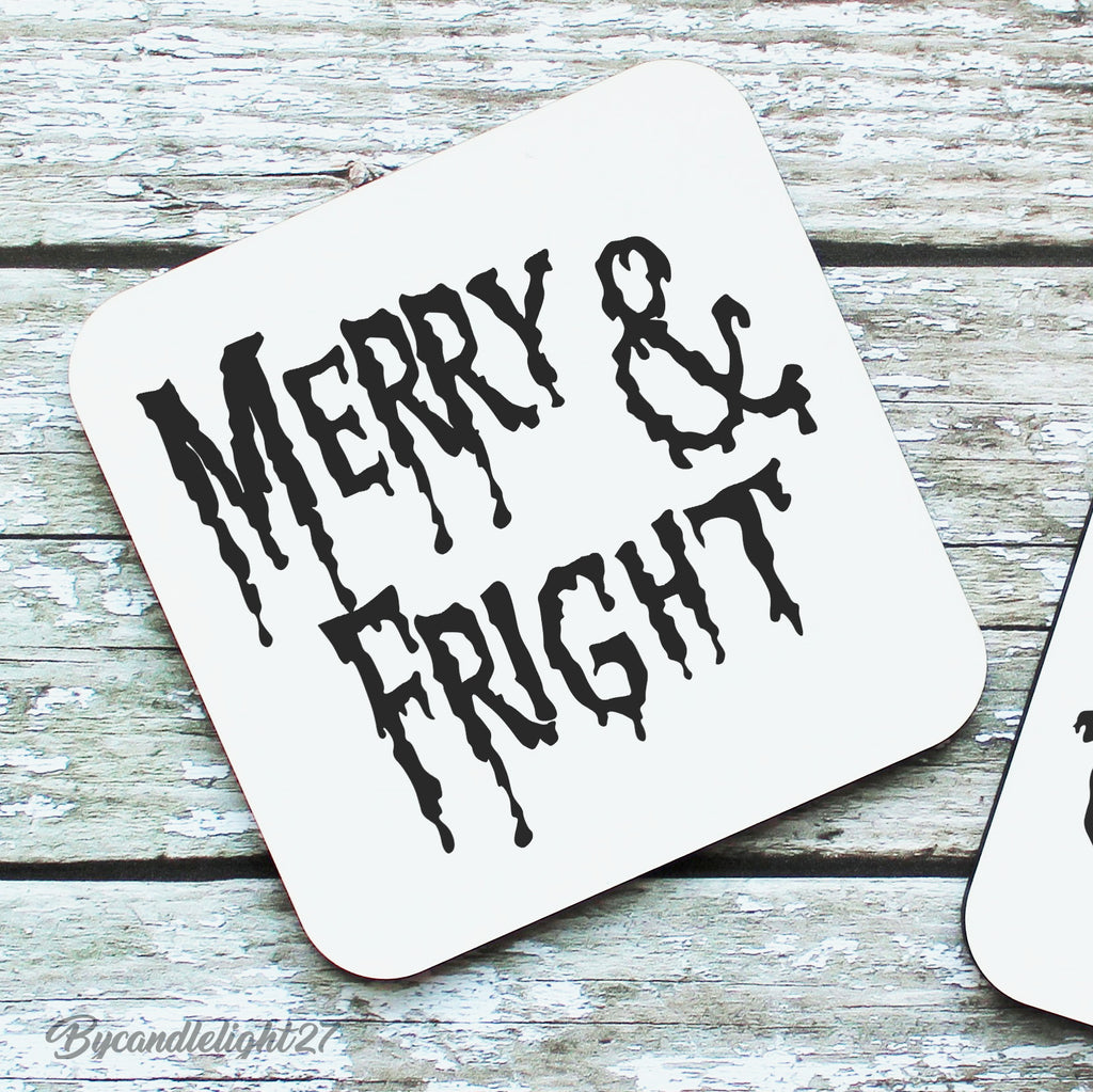 Merry And Fright - Hardwood Coasters
