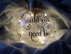 Should You Need Us... Labyrinth LED Christmas Ornaments - ByCandlelight27
