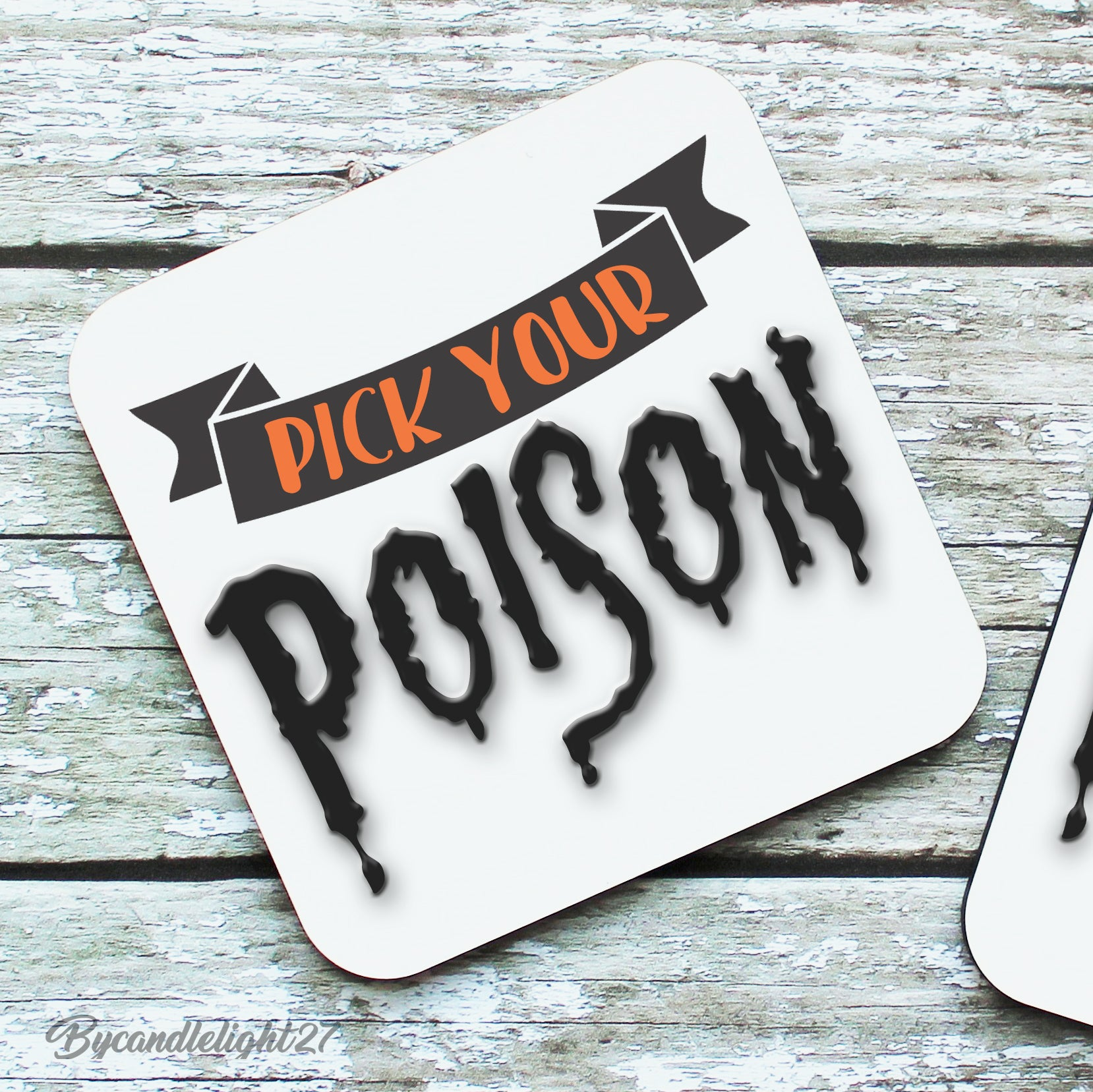 Pick your poison - Hardwood Coasters