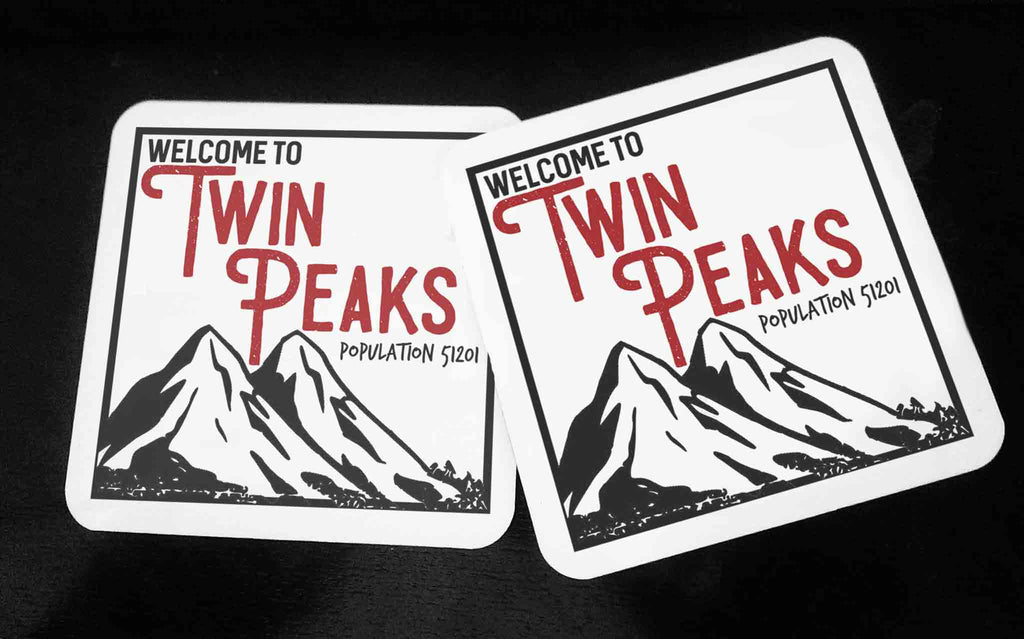 Welcome To Twin Peaks - Hardwood Coasters