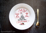 Personalized Christmas Eve Santa Plate - ByCandlelight27