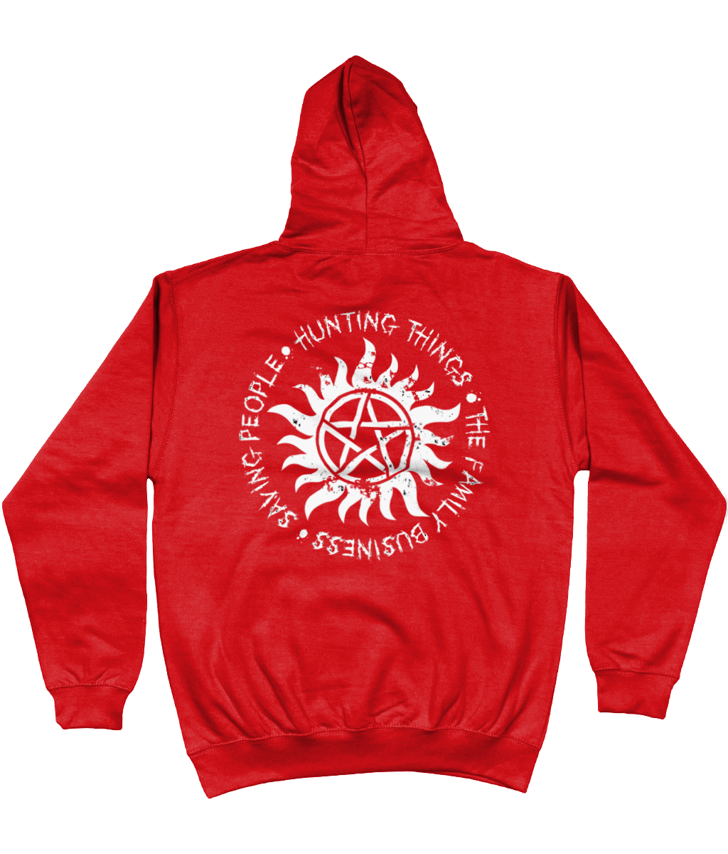 Saving People Hunting Things Supernatural Varsity Hoodie
