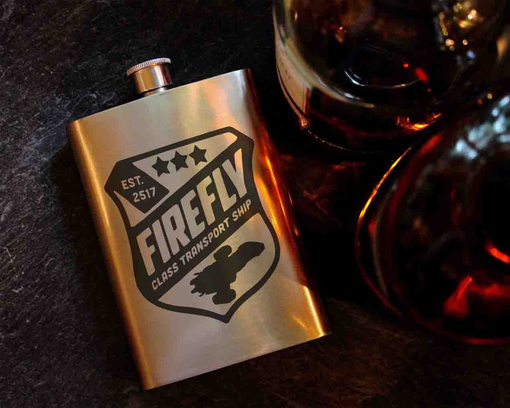 Firefly 8oz Hip Flask, Drinking Flask - ByCandlelight27