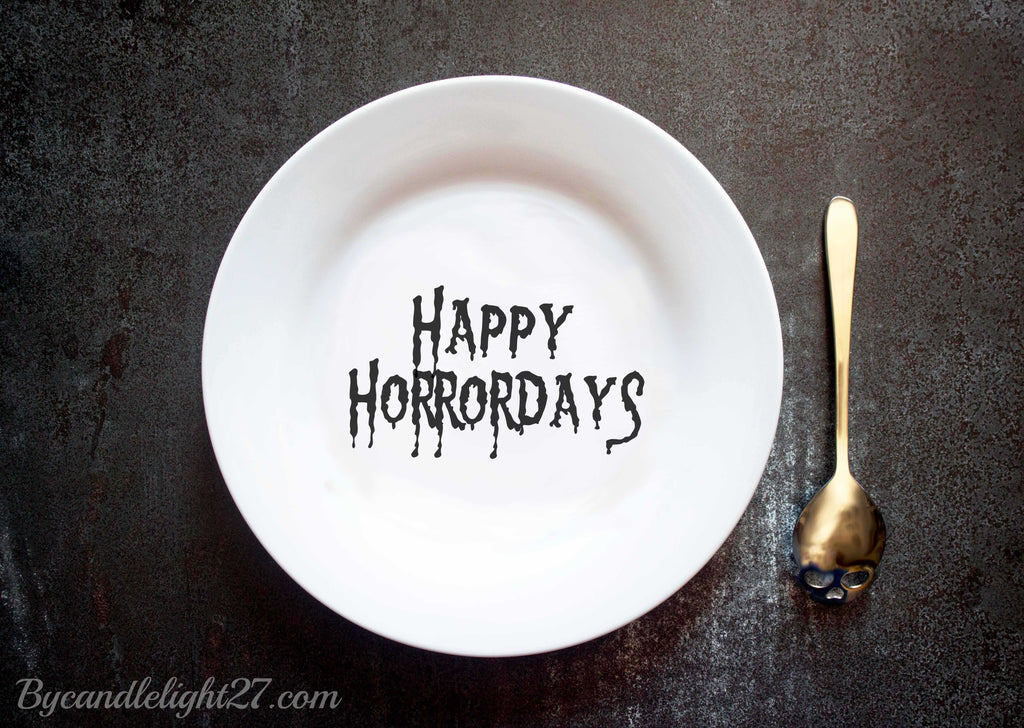 Happy Horrordays Halloween Ceramic Plate