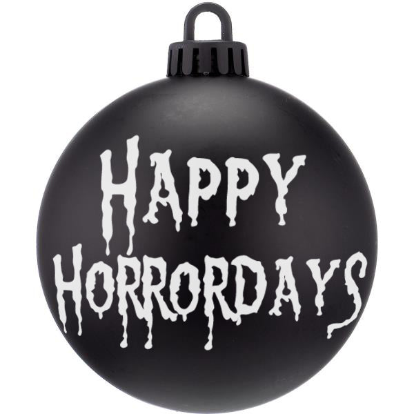 Happy Horrordays Dark Christmas Bauble Ornaments - ByCandlelight27